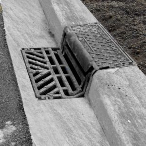 Tempo Hinged Kerb Gully Grate and Frame