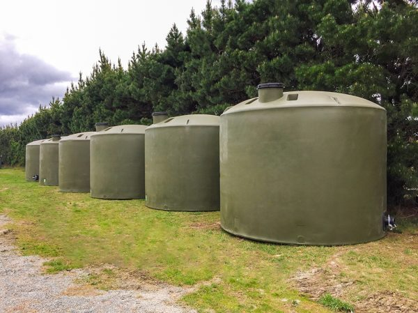 6 x 30,000 litre heavy duty Devan tanks supplied to the Hurunui District Council