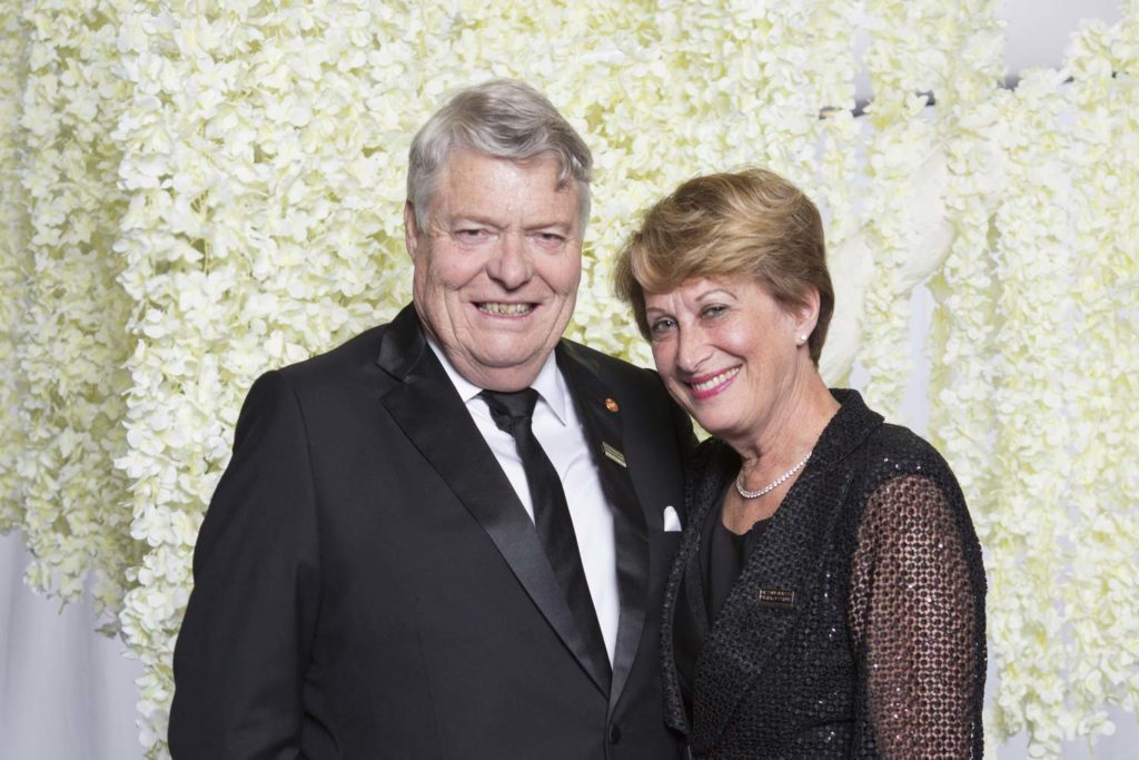 John and Leonie at the Business Hall of Fame Gala