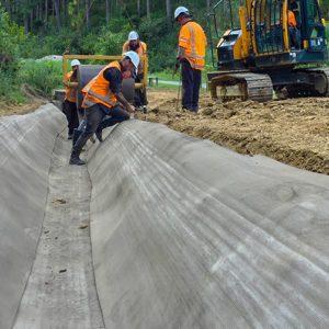 Concrete Canvas Landfill Install