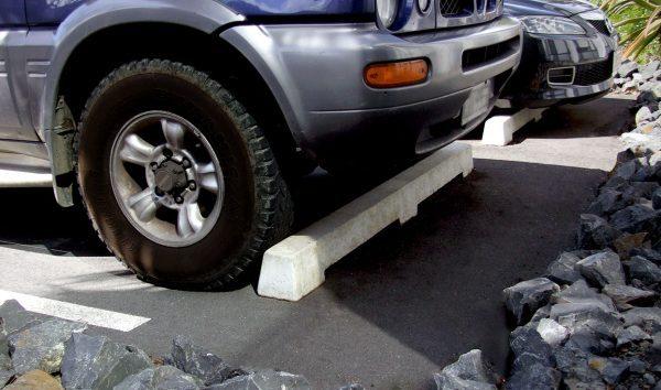 Hynds Concrete Wheel Stops Insitu