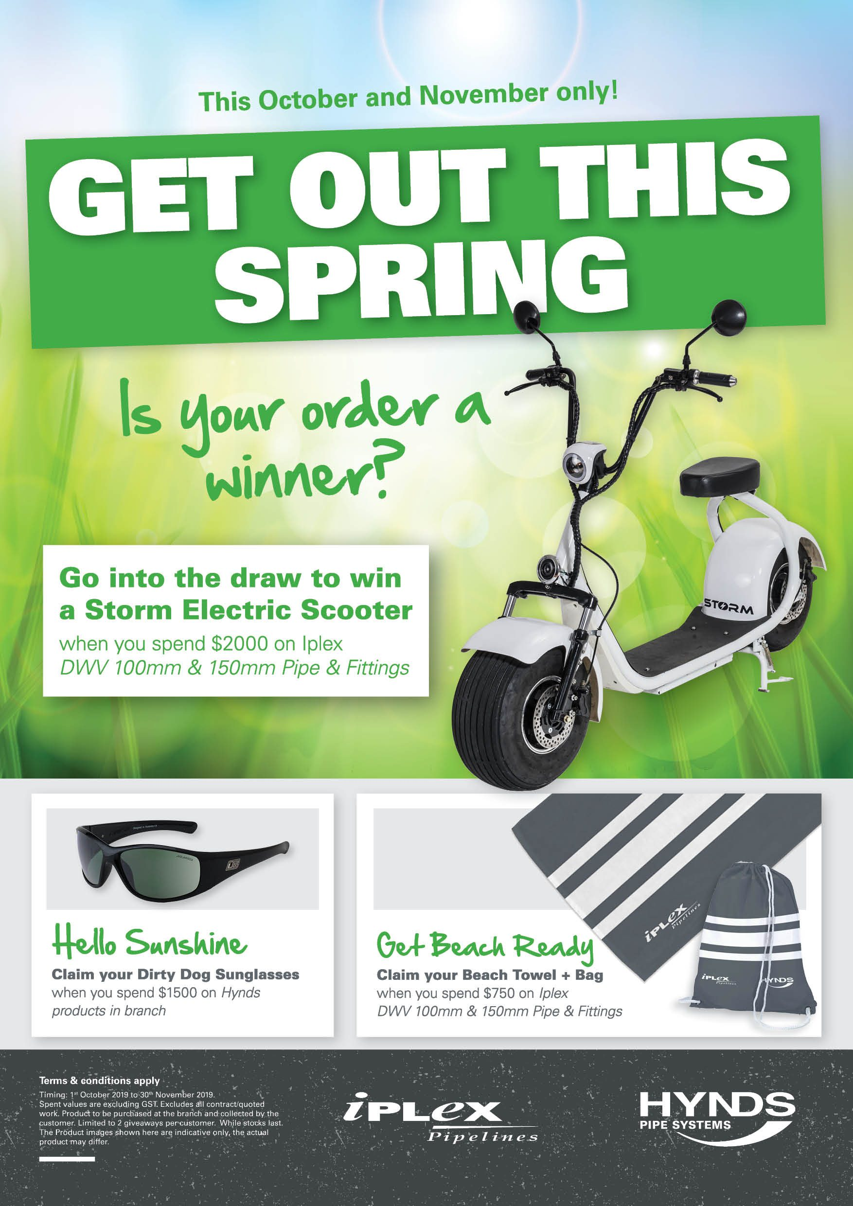 Get out this Spring - Win a scooter