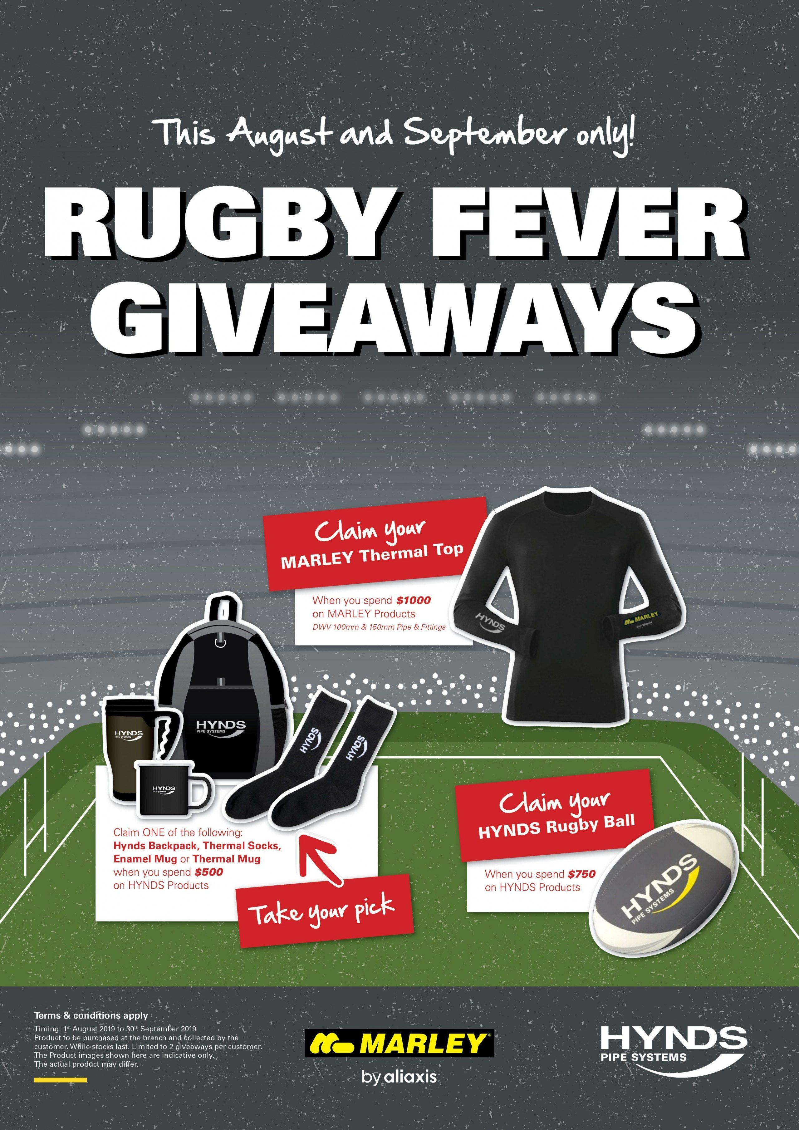Marley Rugby Fever Giveaways