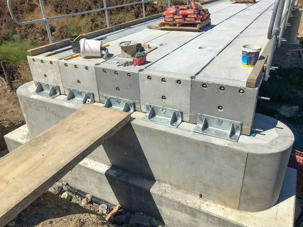 Landspan bridge installation
