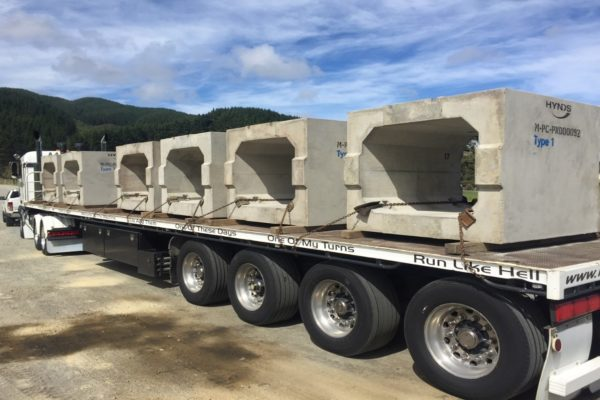1st Delivery of Box Culverts for Transmission Gully