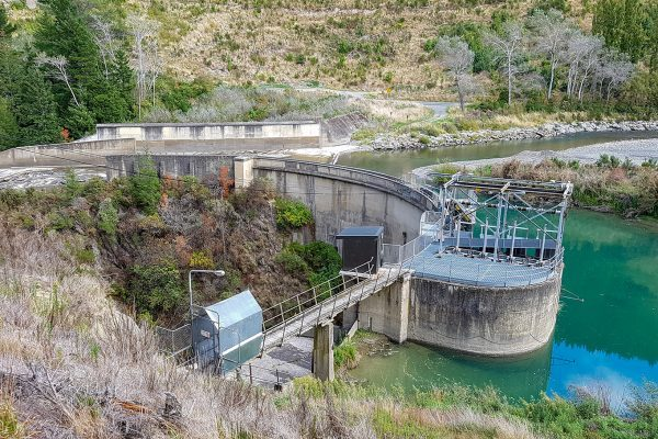 Looking out over the Valley onto the Waihopai Hydro Power Station