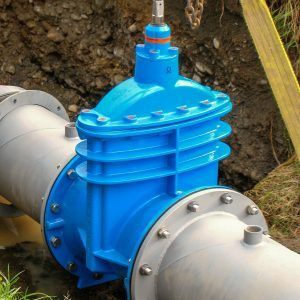 Hawle e2 Flanged valve in-situ